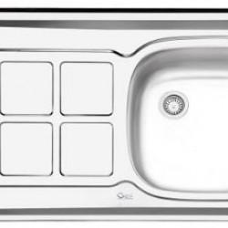 سینک معمولی روکار ایلیا استیل مدل 122