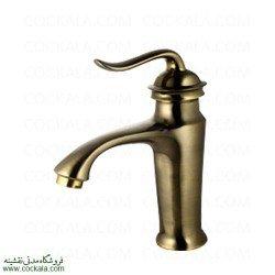 شیر روشویی البرز روز مدل اسپیرال طلا مات