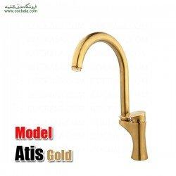 شیر سینک ظرفشویی راسان مدل آتیس طلا مات