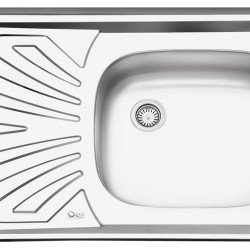 سینک معمولی روکار ایلیا استیل مدل 111