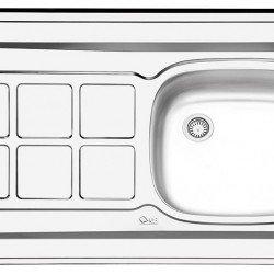 سینک معمولی روکار ایلیا استیل مدل 131