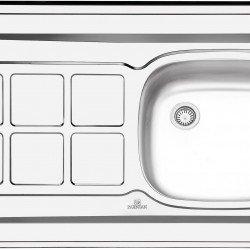 سینک کلاسیک پرنیان استیل مدل PS 3101