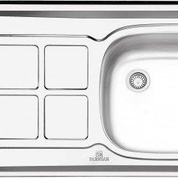 سینک کلاسیک پرنیان استیل مدل PS 3107