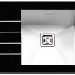 سینک شیشه ای پرنیان استیل مدل PS 4103