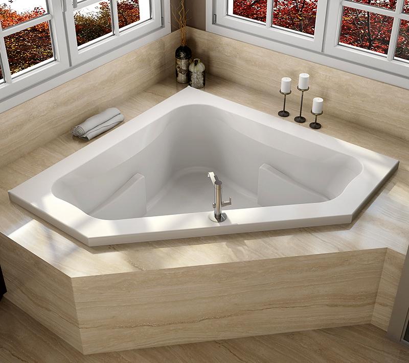 شکل ظاهری وان حمام - انواع وان و جکوزی - وان سه گوش
