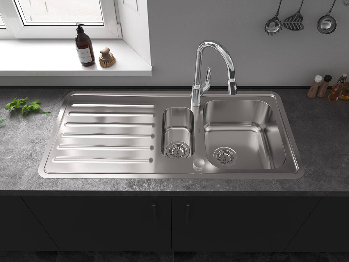 سینک ظرفشویی استیل- چدن- گرانیت- فروشگاه نقشینه
